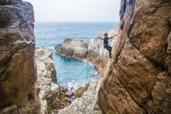 Long Dong rock climbing