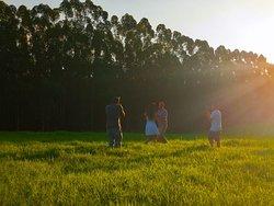 Adoramos dançar no meio desse campo!!! Que lugar lindo!!!