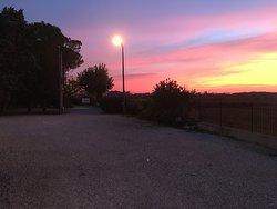 Vista del Panorama al tramonto