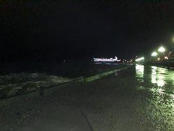Набережная  города Ялта  ночью, Ялтинский регион