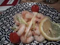 Beautifully steamed prawns