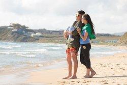 База отдыха располагается на красивейшем пляже п. Южно-Морской.