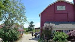 The winetasting area of the Jones Winery & Family Farm