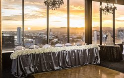 Wedding reception in the Panorama room