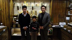 Anil (R) & Suman (L) with my son