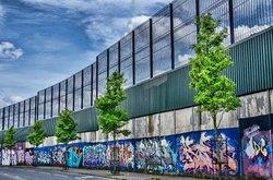 The famous Peace wall - Belfast  www.cityandcauseway.com
