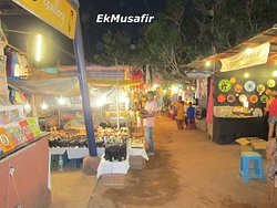 Colorful stalls.