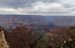 """THE REASON to come to the Grand Canyon is the view from literally their """"back door""""."""