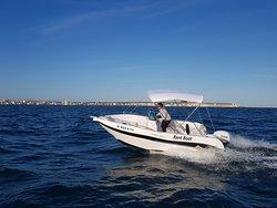 Barco Voraz 5.0 de alquiler sin licencia en Santa Pola 2/4/8 horas  tranquilo