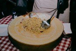 wheel chese pasta