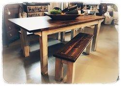 Custom order farm table for a sweet family