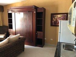 Ocean Manor Cabarete living room with murphy bed