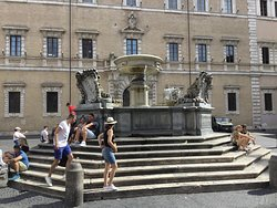 The odest fountain in Rome.