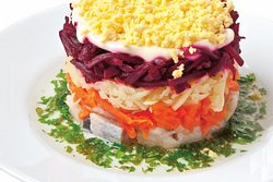 Russian Fish Coat Salad