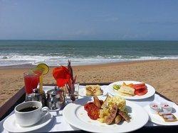 romantic breakfast on the beach