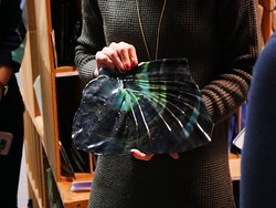 "A unique piece of Tiffany's ""drapery"" glass. Photo: Corey William Schneider"