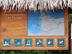 park entry hike side signage