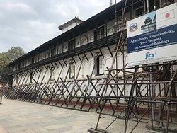 Hanuman Dhoka ongoing repairs