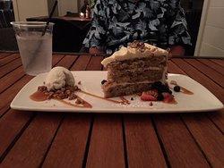 Grand Marlin hummingbird cake with vanilla ice cream