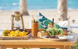 Tacos served beachfront