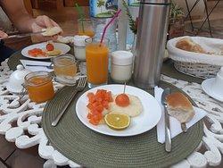 Une partie du petit dejeuner