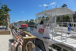 Key Largo before went to dive