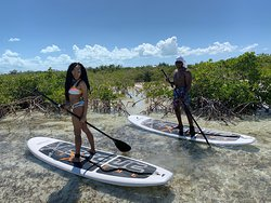 Paddle boarding in Turks and Caicos