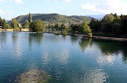 View on Una river and City Bridge