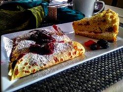 Lemon Blackberry crepes for breakfast