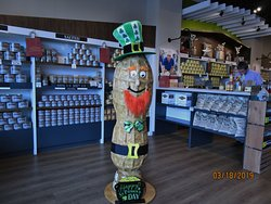 Mr. Peanut was decorated for St. Patrick's Day