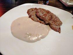 Biefstuk met champignonsaus