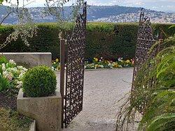 horizon view through a gate
