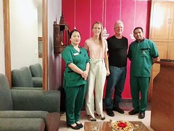 Ayur Ganga Spa staff members with our esteemed guests