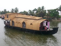 Our houseboat on the backwaters