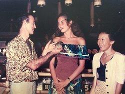 MAREVA GEORGES miss France avec Madame et Monsieur SIBANI