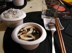 Soupe miso et riz parfumé