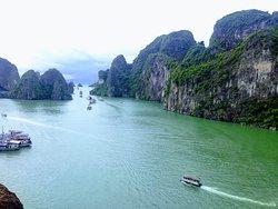 The beauty mountain of Ha Long bay