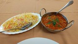 Jalfrezi and Pilau rice