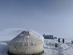 The Yurt where we stayed in Song Kul