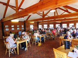 The Old Tile Works Coffee Shop and Restaurant's dining room.