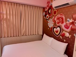 Economy Double Room. View of the wall painting.