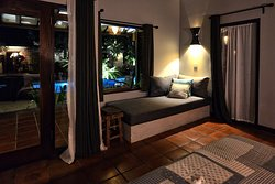 Double room with day bed.