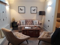 Lovely area to relax in the Robin of Loxley suite