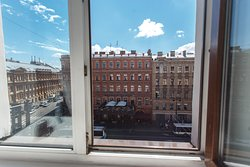 Twin room with view on Nevsky prospect
