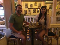 My husband and I at Alquimico in the Walled City in Cartagena, Colombia. We loved this place and went back several times during our 1 anniversary trip.