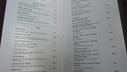 A la carte menu 10