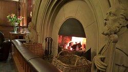 castle open fire place