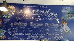 Menu at Malasada World