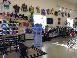 We have a large selection of bikes, helmets, clothing, and great accessories to make your bike rides safer and more comfortable.