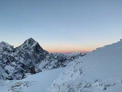 Sunrise on our way up Lobuche East Peak